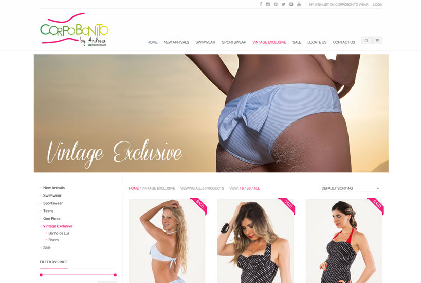 Web Design - Corpo Bonito Wear