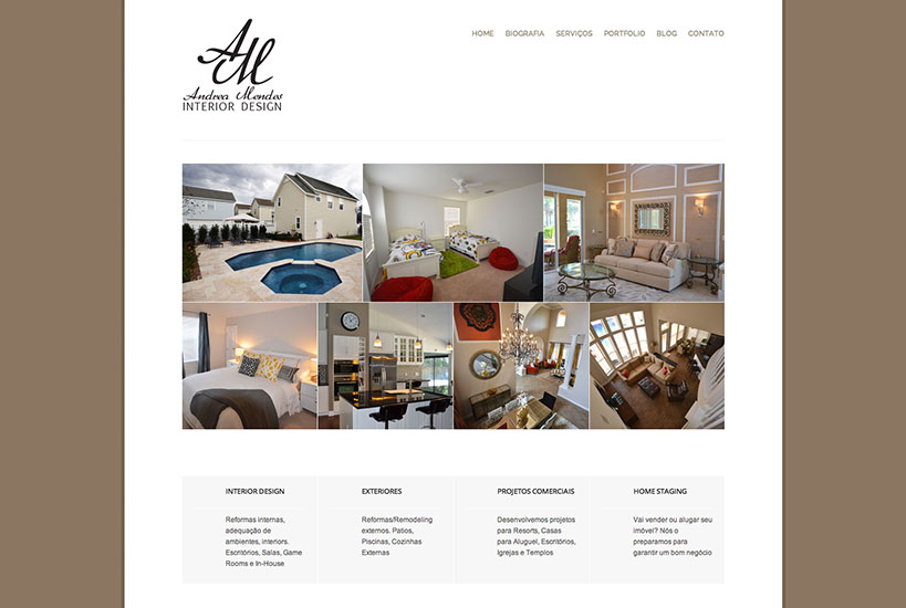 Web Design - Andrea Mendes Interior Design