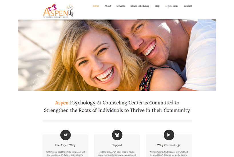 Web Design - Aspen Psychology & Counseling Center