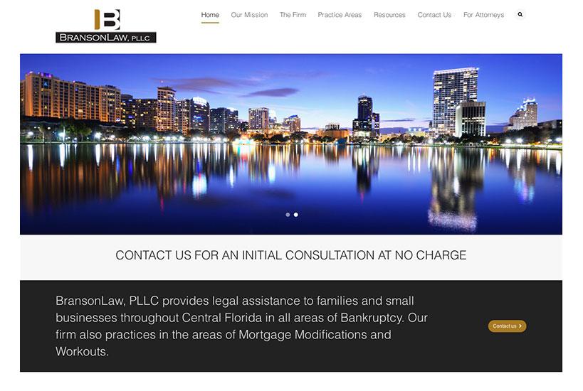 Web Design - BransonLaw, PLLC