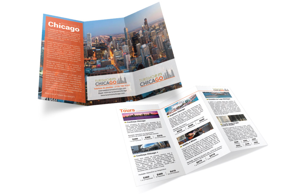 Print - Brochure Tourism in Chicago